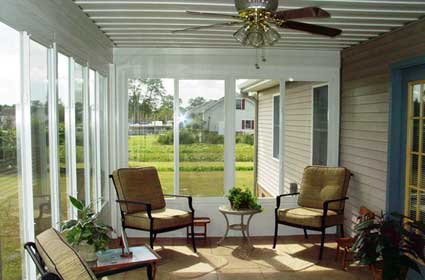 Outside view of a Screen Only Sunroom manufactured by The Sunroom Source