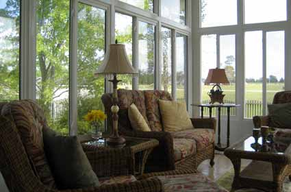 Inside View Of A Hamptons Sunroom Manufactured By The Sunroom Source