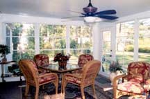 Neat finished appearance inside your sunroom